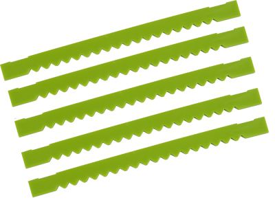 """TapeTech QuickBox QSX Notched Finishing Blades 6.5"""" (Pack of 5) QB6043-5"""