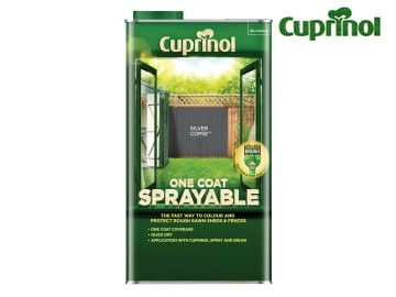 Cuprinol One Coat Sprayable Fence Treatment Silver Copse 5 Litre - CUPNSFTSC5L