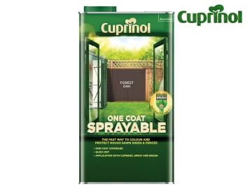 Cuprinol One Coat Sprayable Fence Treatment Forest Oak 5 Litre - CUPNSFTFO5L