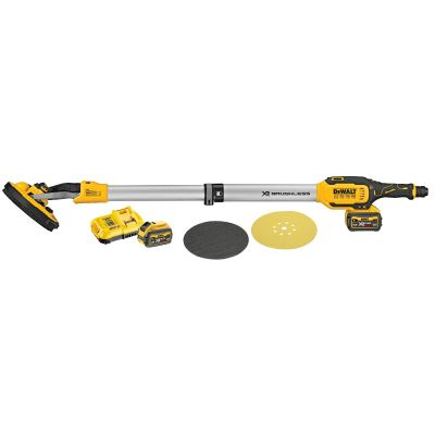DeWalt 18V XR Brushless Drywall Sander 225mm 2 x 18V 6Ah Batteries DCE800T2-GB
