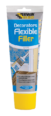 Everbuild Flexible Decorators Filler Easi-Squeeze White 200ml - EASIFLEX