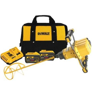 DeWalt 54V XR FlexVolt Brushless Paddle Mixer 2 x 9.0Ah Batteries With Carry Case - DCD240X2
