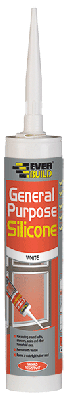 Everbuild General Purpose Silicone White 280ml - GPSWE