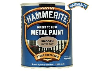 Hammerite Direct To Rust Smooth Finish Metal Paint Muted Clay 750ml - HMMSFMC750