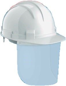 Arrow COVID-19 White Hard Hat Plus Safety Shield