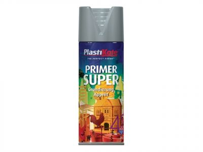 PlastiKote Super Spray Primer White 400ml - PKT1145