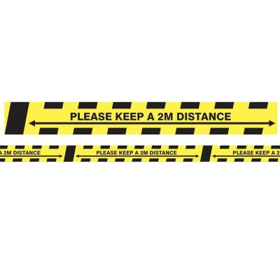 Ox Social Distancing Yellow and Black Adhesive Tape 33m OX-SDT-33