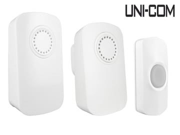 Uni-Com Smart Portable Chime & Plug-In Door Chime Twin Pack - UNC66712