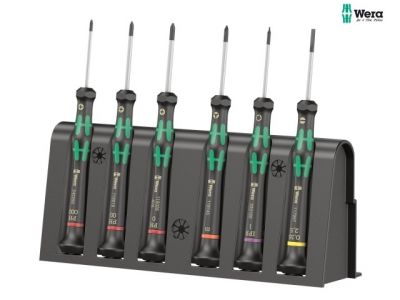 Wera 2050-6 Kraftform Micro Screwdriver Set (6 Pieces) - WER030181